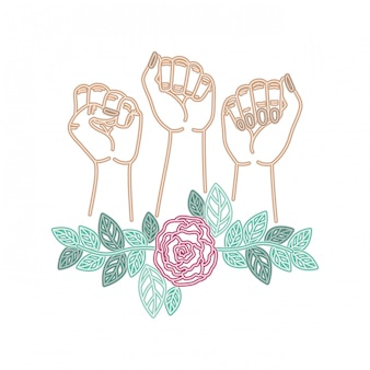 Hands with flower avatar character