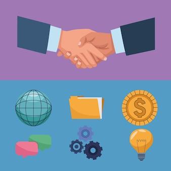 Рукопожатие и символы сделки