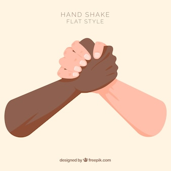 Handshake background in flat style