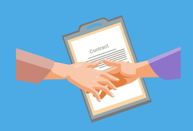 Документ для рукописного документа для бизнесмена