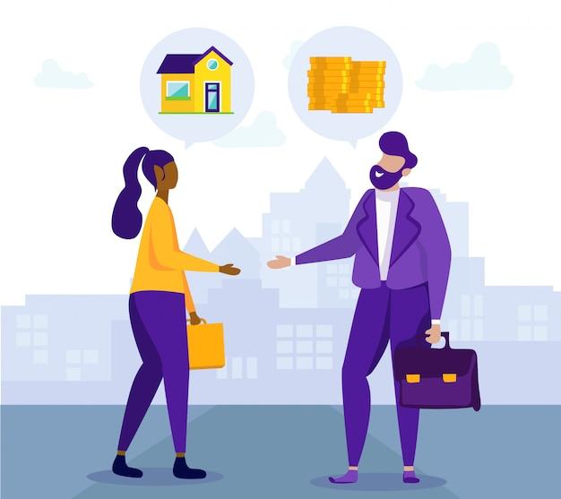 Handshake client and broker. housing installments.