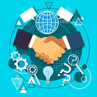 Handshake icon concept business hands shake
