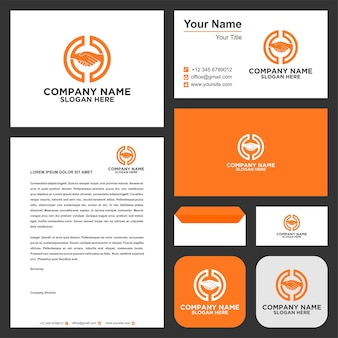 Handshake logo and business card