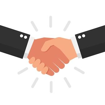 ビジネスパートナーの握手ベクトルアイコン
