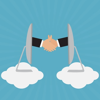 Рукопожатие бизнесмена для партнерской встречи