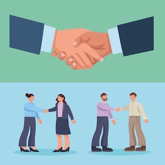Рукопожатия деловых людей