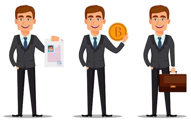 Набор красивый банкир в деловом костюме
