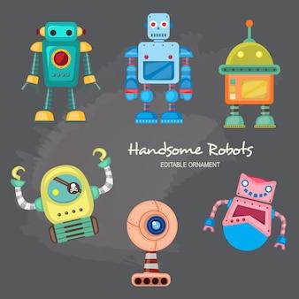 Handsome robots ace