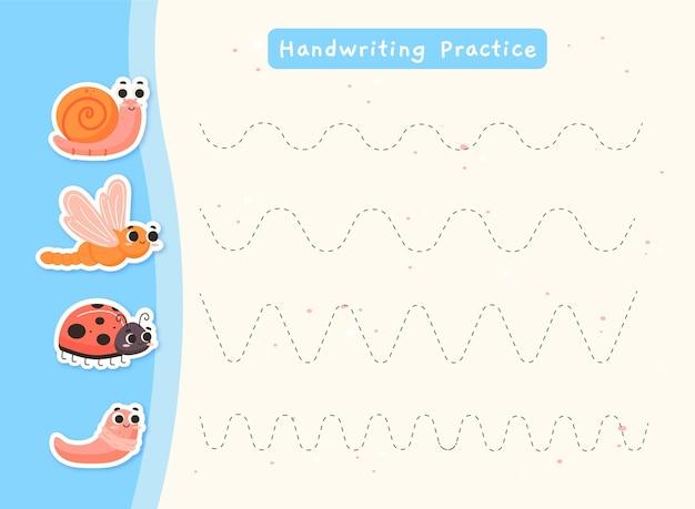 Pratica di scrittura a mano per bambini