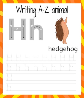 Handwriting practice sheet. basic writing. educational game for children.