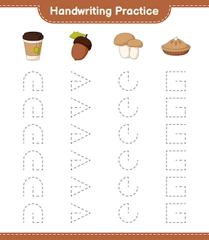 Практика рукописного ввода трассировка линий пирога из желудевого чая и подберезовика