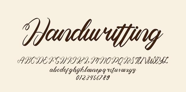 Рукописный шрифт алфавит шрифта