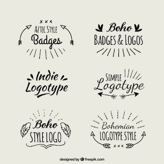 Logotipi boho scritte a mano