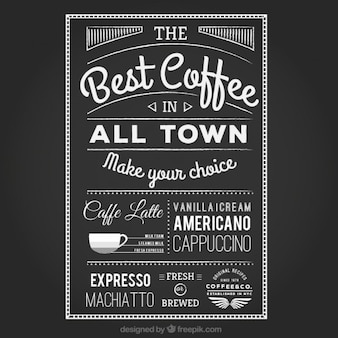 Handwritten coffee poster