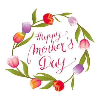 Handwritten happy mothers day  frame