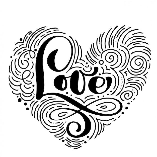 Handwritten inscription love