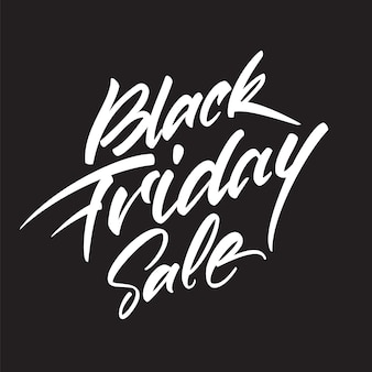 Handwritten lettering composition of black friday sale