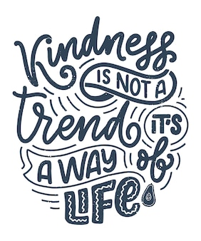 Handwritten lettering quote about kindness