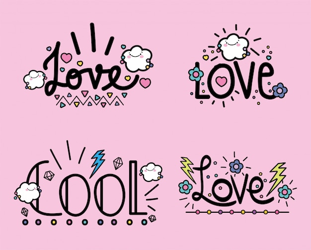 Handwritten messages background flat