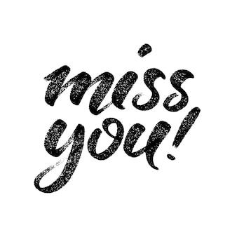 Handwritten 'miss you' message.