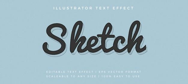 Эскиз рукописного текста в стиле шрифта