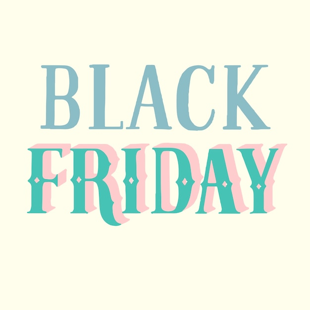Handwritten style of black friday typography