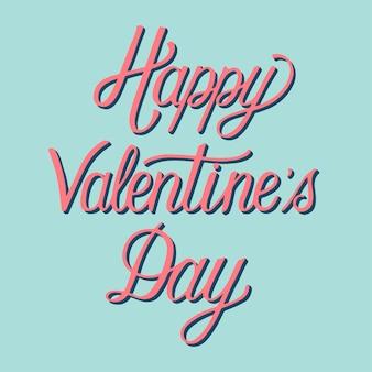 Handwritten style of happy valentine's day