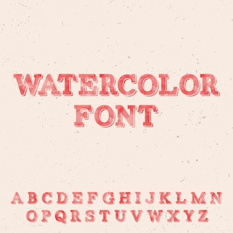 Handwritten watercolor font template