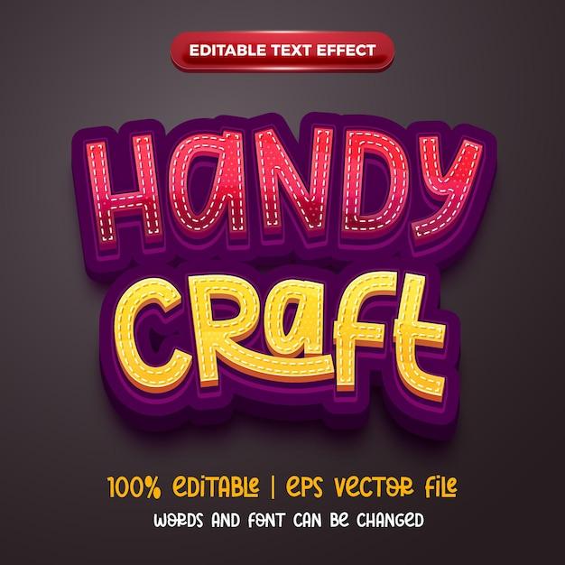 Handy craft 3d editable text effect