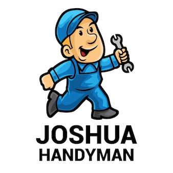 Разнорабочий мультфильм талисман логотип