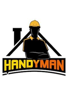 Handyman logo vector icon