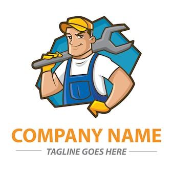 Разнорабочий логотип Premium векторы