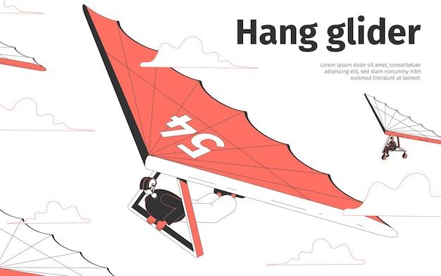 Hang glider illustration