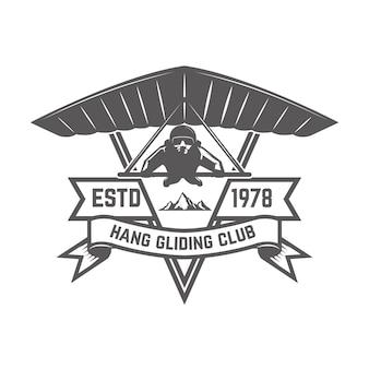 Hang gliding club emblem template.