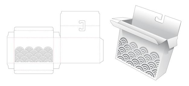 스텐실 웨이브 다이 컷 템플릿이있는 교수형 상자