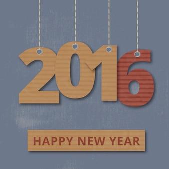 Висячие картонные +2016 число