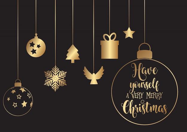Висячие рождественские украшения