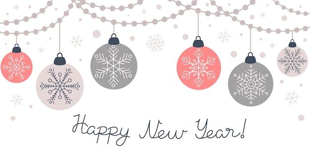 クリスマスの花輪をぶら下げ、飾りのバナー