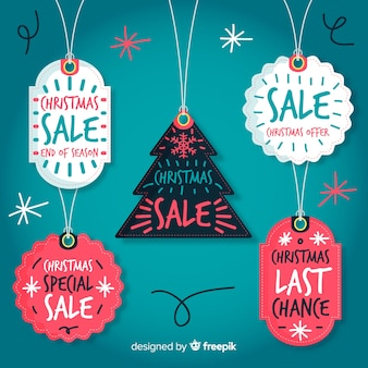 Hanging christmas sale labels