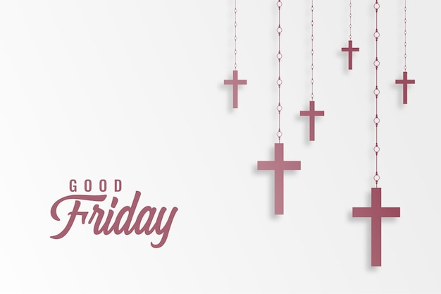 Hanging crosses for good friday