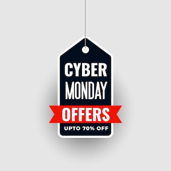 Hanging cyber monday special sale offer tag