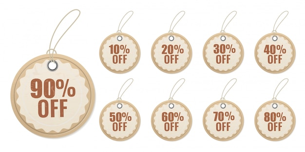 Hanging discount paper. origami cutting special price for sales sticker   label set
