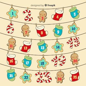 Hanging elements advent calendar