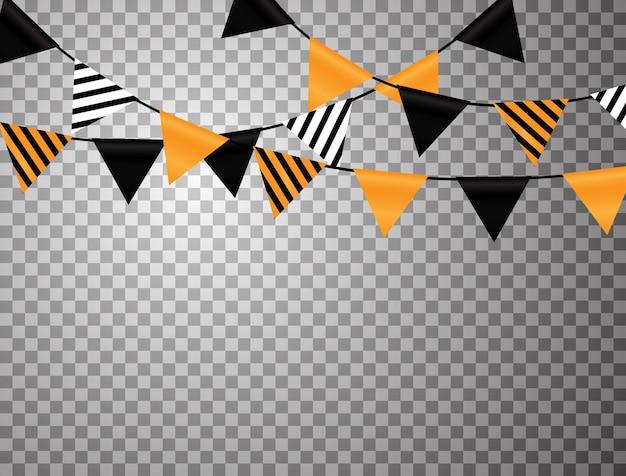 Hanging flag design used for halloween celebrations.
