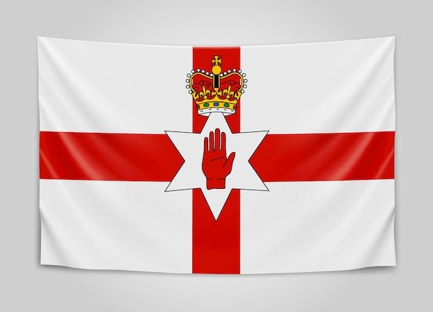 Hanging flag of northern ireland. northern ireland.