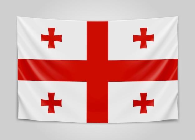 Подвешенный флаг грузии. грузия.