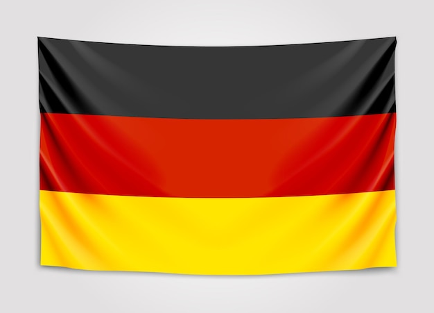 ドイツの旗をぶら下げます。ドイツ連邦共和国。