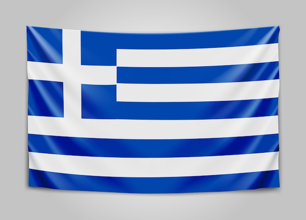 그리스의 국기를 걸려. 그리스 공화국. 그리스 어