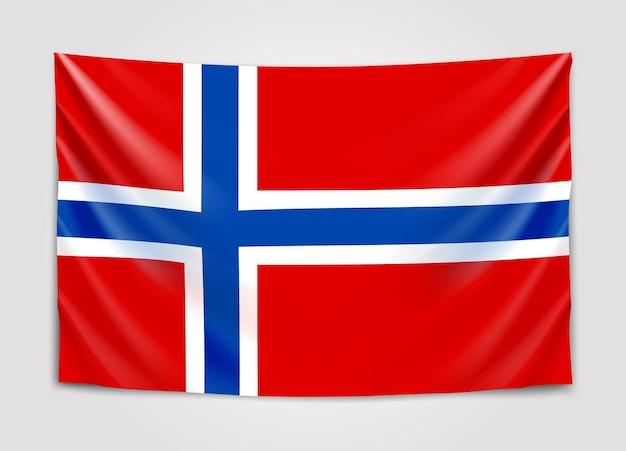 노르웨이의 국기를 걸려. 노르웨이 왕국.