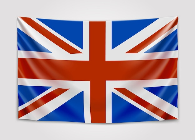 영국 국기를 걸려. 영국. 영국인